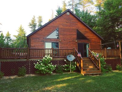 Photo for Year-Round Cabin Rental ~ Gorgeous Lakefront Property Nestled In The Woods