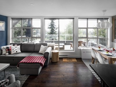 Photo for THE LOOKOUT PENTHOUSE // a luxe ski-in ski-out slopeside suite in Whistler!