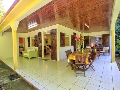 Photo for Creole house, riverside, close to the sea, 3 bedrooms, 2 bathrooms, 2 toilets, fenced garden