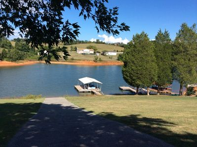 Enjoy our ramp and covered dock.  Great for fishing with the kids!