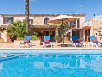 Photo for Tipical majorcan Finca with pool and separate Guest House, SAT-TV. WiFi