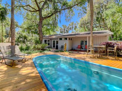 Photo for New Listing! Summer Avail! Beach House with Private Pool 3 BR Home Walk to Beach!