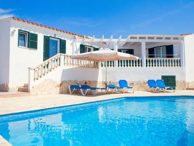 Photo for Spacious villa with 4 bedrooms, private pool, sea views located close to beach