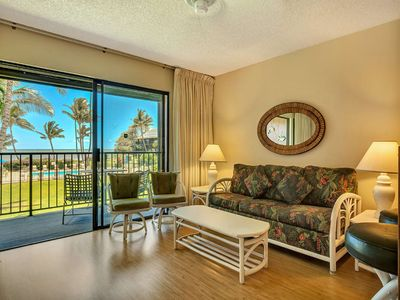Photo for Homey Suite w/Pool+Ocean View! Open Kitchen, Lanai, Flat Screen–Molokai Shores 227