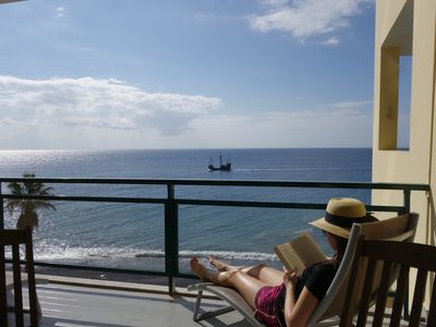 Photo for Beach waterfront 4-star holiday apartment with ocean view and swimming pool