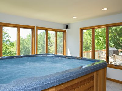 Photo for Luxury Mountain Retreat w/Amazing Views! Natural Swimming Pond, Amenity Packed!