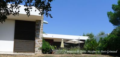 Photo for 4 bedrooms villa with swimming pool, private beach 150m from the sea in Grimaud (beauvallon)