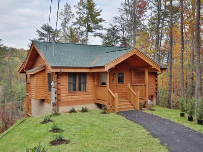 Photo for Brand New Cabin! Living Room plus Large Den with Air Hockey and Foosball! Close to FREE Amenities