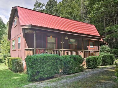 Photo for NEW! Bryson City Cabin w/2 Decks Near Nantahala!