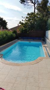 Photo for seafront villa with pool
