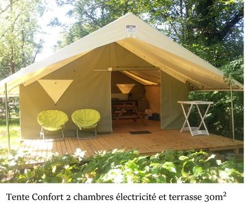 Photo for Electrified fitted tent 30m² 25km from Lascaux