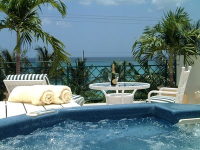 Photo for Tradewinds - Luxury 4 Bedroom Villa with private pool across from Mullins Beach