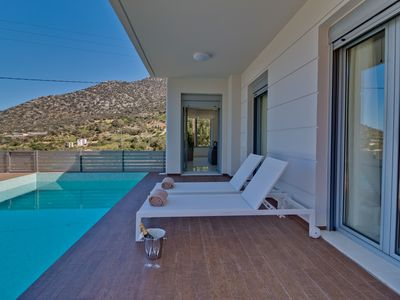 Photo for Asterios Villa | Walking distance to the beach | Top Design | Private Pool