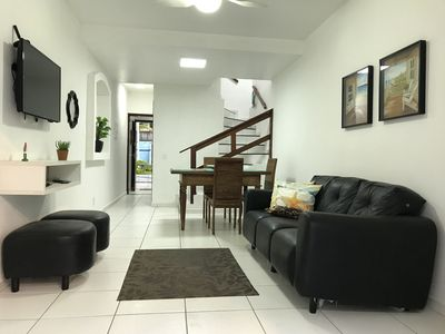 Photo for House, 2 floors, in gated condominium facing the sea. BIG BEACH