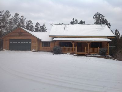 Photo for Modern Log Cabin On 3 Acres.  Great Location On The Edge Of Custer