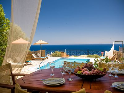 Photo for Emerald superior villa with private pool and panoramic sea views