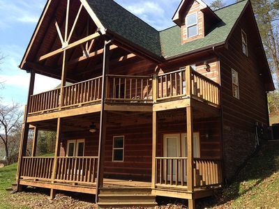 Photo for Summer dates still available! Cabin - Lakefront, Dock, Fishing, Swim, ATV