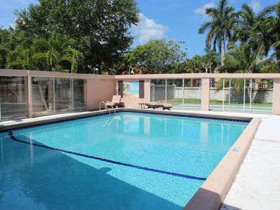 Photo for Lauderdale-by-the-Sea Condo w/Heated Pool and Steps to Beach *Min 90 Day Rental*