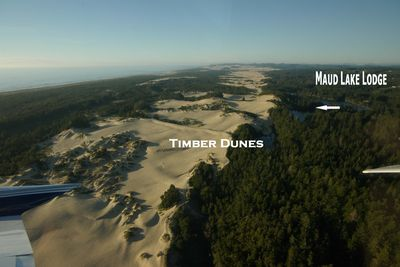 Aerial View of both of our Dune Access homes. Inquire on both.