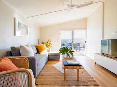 Photo for Coastal Penthouse★Free Parking★AC★Ocean Views★1min to Beach★Cafes★Netflix