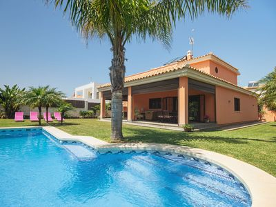 Photo for Holiday home with garden, pool and sea view - Villa Italia
