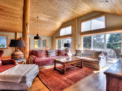Photo for Crest Cabin Luxury: Large Fenced Yard + Hot Tub, BBQ