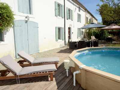 Photo for Stunning 400yr old farmhouse near Carcassonne. Wi-Fi in all rooms. 5 star luxury