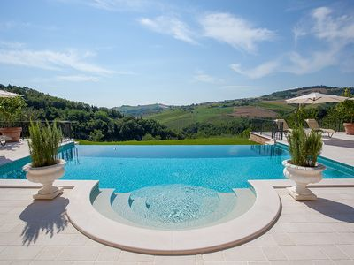 Photo for Luxury holiday with private pool and breathtaking panoramic in nature