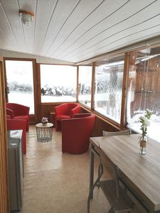 Photo for Warm apartment at the foot of the Hirmentaz ski slopes