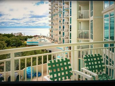 Photo for STUNNING 2-bedroom condo, STEPS TO BEACH