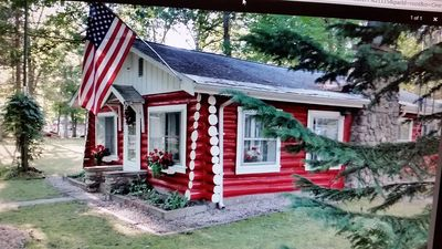 Photo for Red Cabin Retreat is a newly renovated log cabin perfect for a couple getaway.