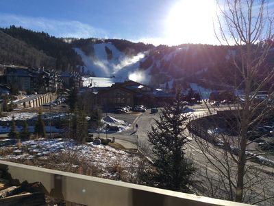 Photo for Powder Run Premier Unit - Corner unit with views, walk 100ft to ski !