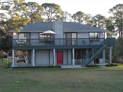 The view of Good Haven House from the shores of beautiful Perdido Bay.