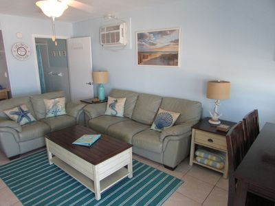 Photo for Ocean front, end unit condo.  Amazing view, just steps to the sand, free WiFi