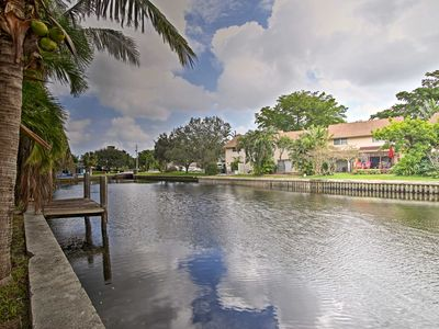 Photo for Canal-front Wilton Manors Home - 15 Min to Beaches