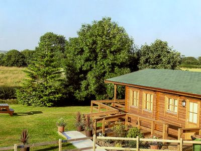 Photo for THORNLEA LOG CABIN, pet friendly, with a garden in Danby, Ref 1490