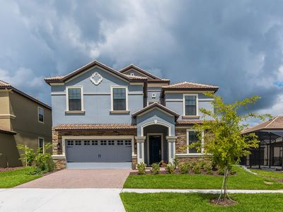 Photo for Luxurious 9 bedroom, 5 bath pool home in Champions Gate Resort with private pool and spa