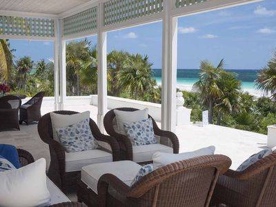 Photo for Luxurious Beachfront Estate with Pool on Exclusive Windermere Beach