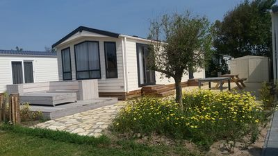 Photo for Chalet, 1km from Sea, Camping, Swimming Pool Beach
