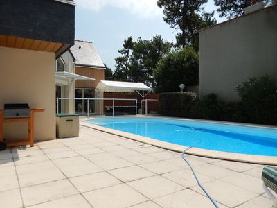 Photo for VILLA 139 m2, not overlooked, with heated pool for 8 people
