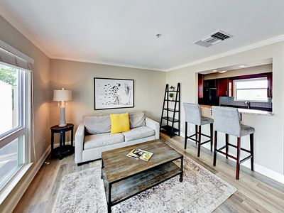 Living Room - Welcome to Nashville! Your riverside condo is professionally managed by TurnKey Vacation Rentals.