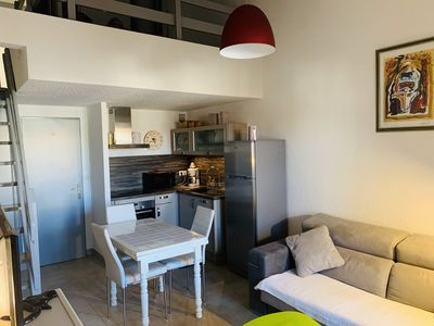 Photo for 40 m2 apartment 200 meters from the beach, parking space