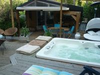 A lovely little cottage very close to the sea, crystal clean hot tub, great BBQ, and sheltered patio