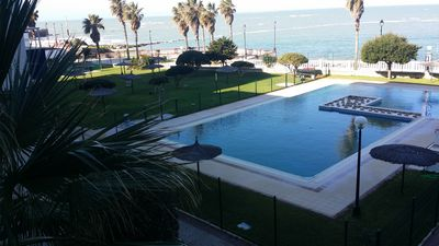 Photo for Apartment in front of the sea, in Urb. Villa Blanca