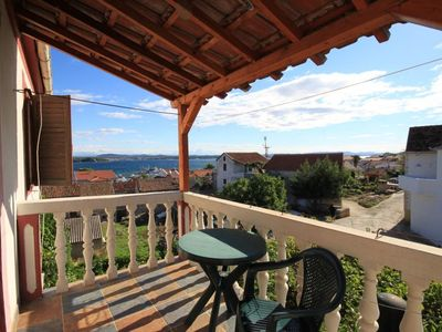 Photo for Two bedroom apartment with terrace and sea view Tkon, Pašman (A-8411-a)