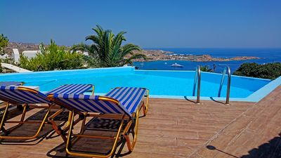 Photo for Villa Psarou beach, with private pool