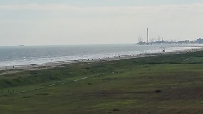 View of Pleasure Pier to the West