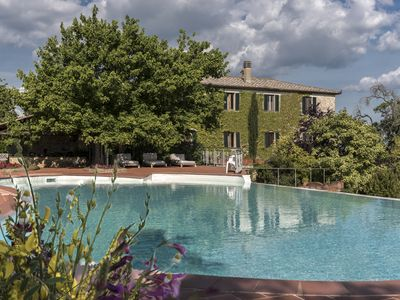 Photo for Vescovado Apartment in Historic Estate near Siena with swimming pool