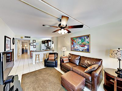 Living Area - Welcome to South Padre Island! This condo is professionally managed by TurnKey Vacation Rentals.