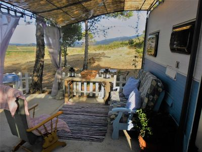 Photo for Luxury camping of ecological mountain retreat in vintage caravan